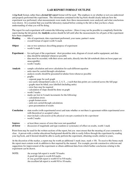 best photos of report outline template science fair