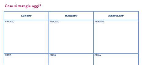 programma alimentare settimanale come pianificare un menu settimanale per la famiglia