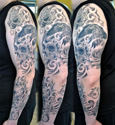 skull tattoo designs sleeves arm tattoos page 10