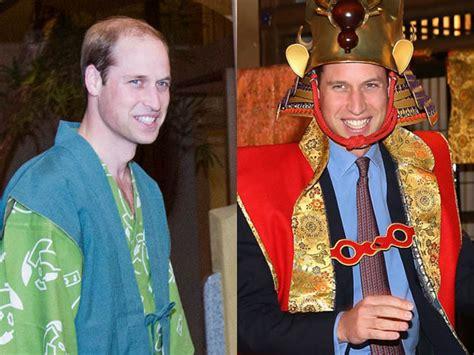 Kostum Pangeran William pangeran william kenakan yukata dan jubah samurai di jepang