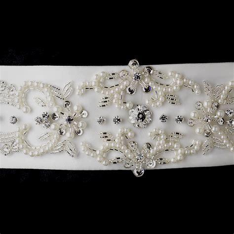 how to make a beaded belt for a wedding dress ivory pearl rhinestone beaded sash belt bridal