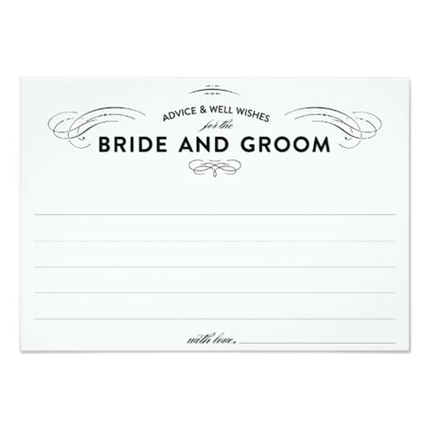 advice cards template wedding advice cards invitation card