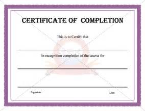 certificate of completion templates free 10 best images of certificate of completion template