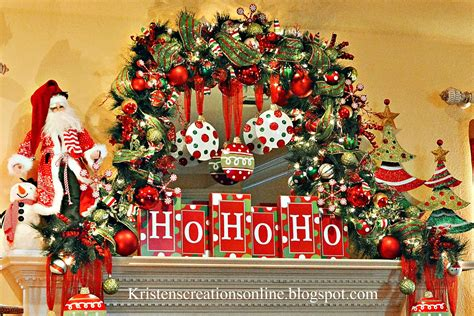 kristen s creations whimsical christmas mantel 2013