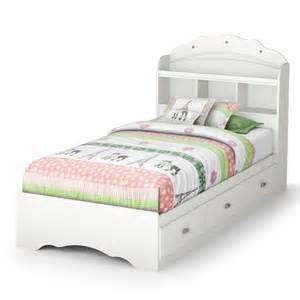White Twin Storage Bed With Bookcase Headboard Tiara White Twin Mates Bed With Bookcase Headboard