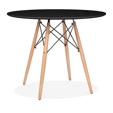 Black Circle Dining Table Eames Style Large Black Dsw Table Dining Table Cult Uk