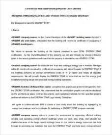 Letter For Rent Space 10 Real Estate Letter Of Intent Templates Free Sle Exle Format Free