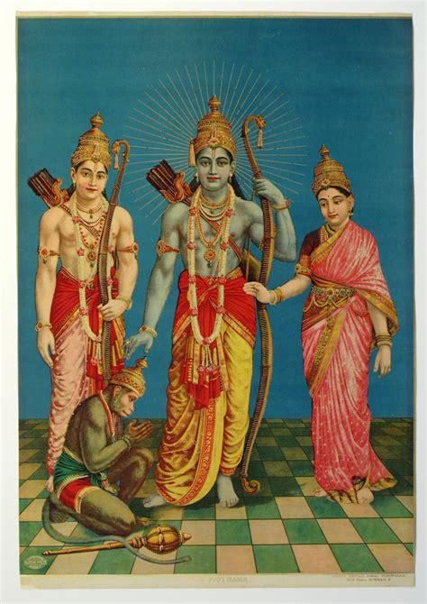 ram sita hanuman ram laxman sita and hanuman vintage printed poster