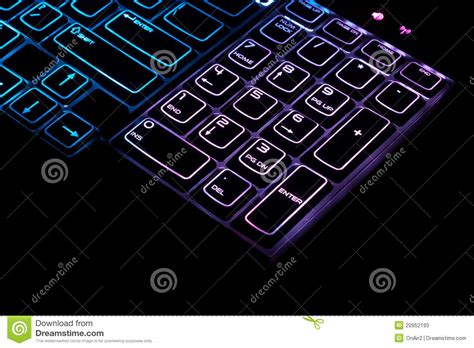 Numeric Keyboard M Tech blue high tech pc computer keyboard stock image image of