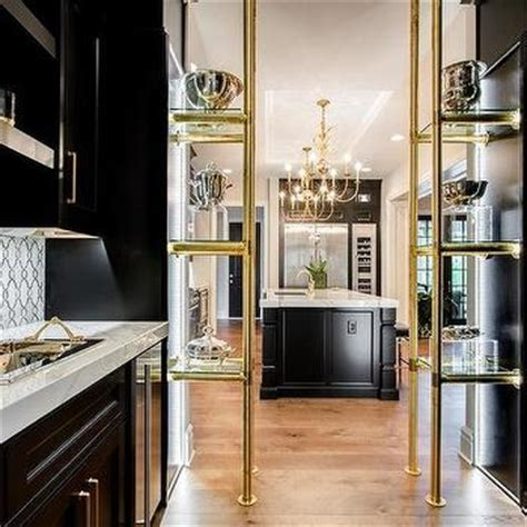 Wood And Brass Piping Shelves Design Ideas
