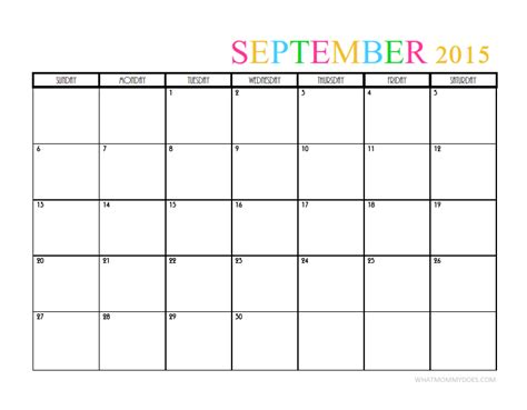 printable monthly planner 2015 september 2015 monthly calendar templates