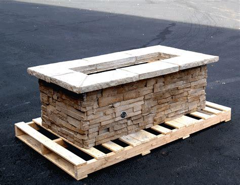 rectangle fire pit 61 quot x 31 quot rectangle custom stone fire pit