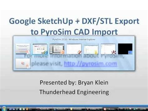 google sketchup tutorial copy pyrosim cad import from google sketchup with dxf stl