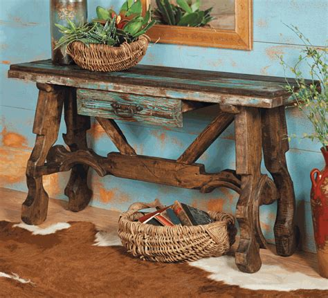 Western Star Home Decor by Western Furniture Ox Yoke Console Table Lone Star Western