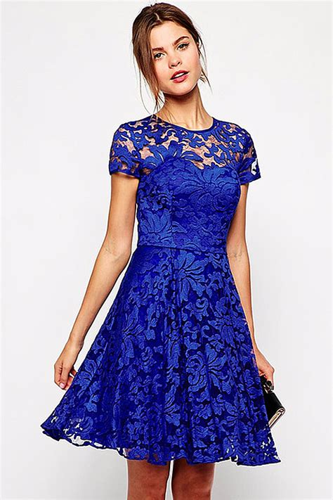 Halter Style by Halter Style Neck Sleeves Dress Blue