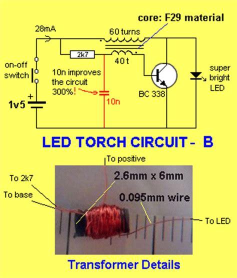 joule thief charging a capacitor el rincon de los circuitos led torch circuits