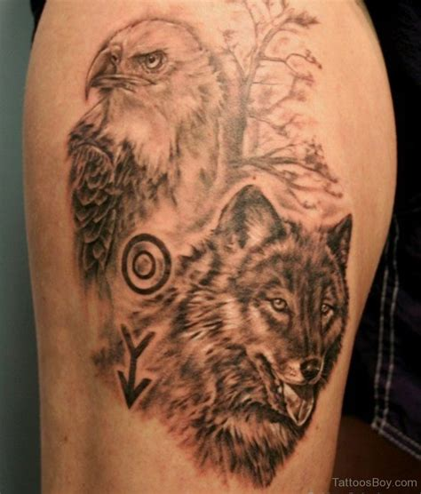 tattoo eagle and wolf wolf tattoos tattoo designs tattoo pictures
