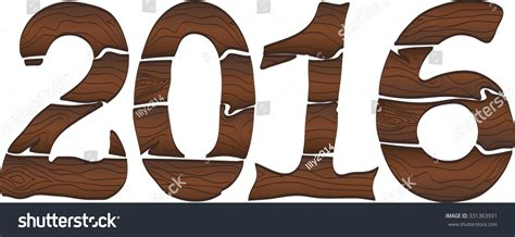 new year 2016 wood happy new year 2016 wood idea stock illustration 331363931