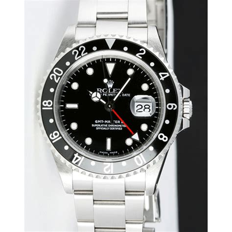 Rolex Gmt Master Ii As used rolex gmt master ii black 16710ln holes for sale