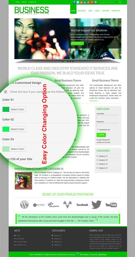 theme line new version small business wordpress templates for small business