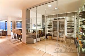 In Cabinet Wine Cooler Residential Custom Wine Cellars