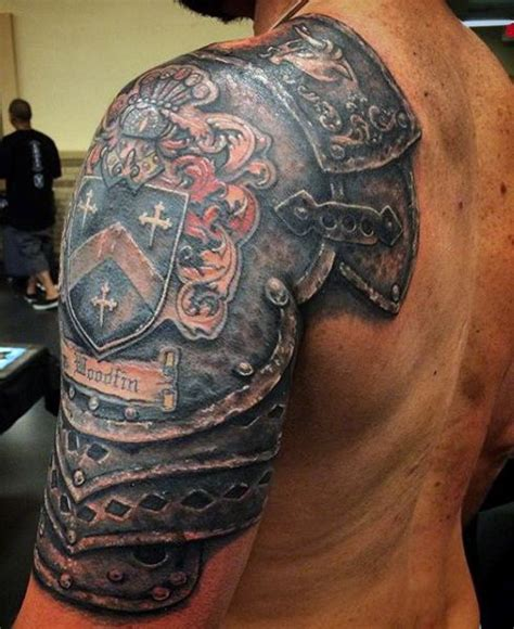 top 90 best armor tattoo designs for men walking