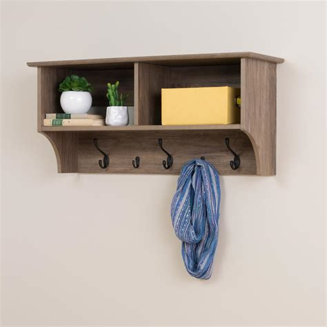 prepac hanging entryway shelf by oj commerce 82 07 109 74 prepac drifted gray wall mounted coat rack dec 3616 the