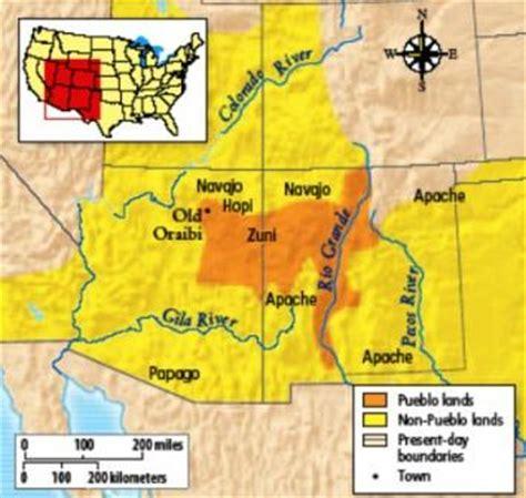 american apache map navajo land
