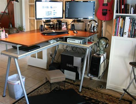 Do It Yourself Office Desk Get Up Stand Up 10 Do It Yourself Standing Desks Brit Co