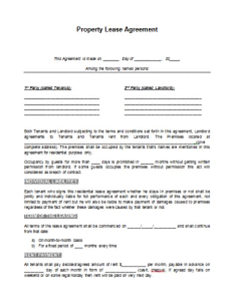 lease agreement template | format & template