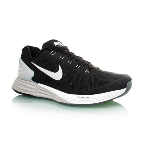 nike lunarglide mens running shoes nike lunarglide 6 mens running shoes black white grey