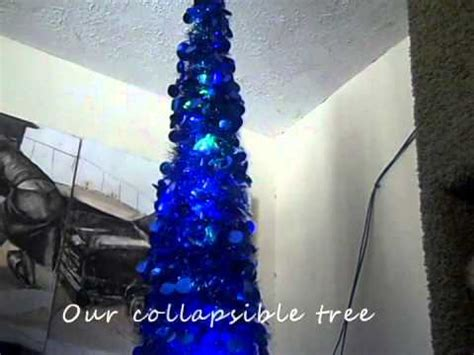collapsible christmas tree with lights our collapsible tree youtube