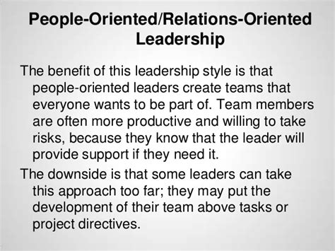 advantages disadvantages of people oriented leadership leadership training 101 styles and techniques