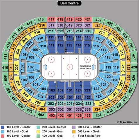 bell center seating chart montreal canadiens tickets