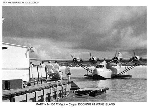 wake boat docking wake island martin m 130 philippine clipper during