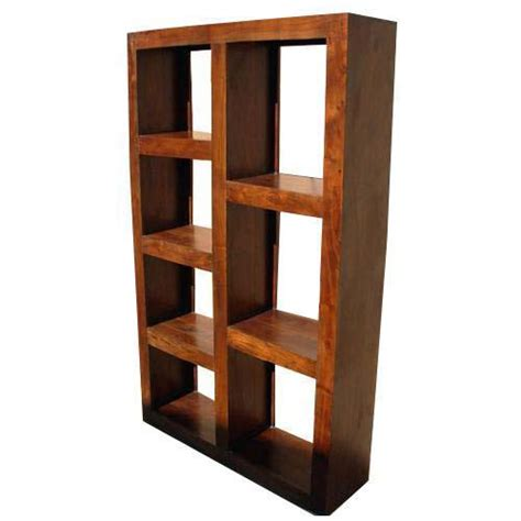 solid wood modern display rack cube bookcase shelf room