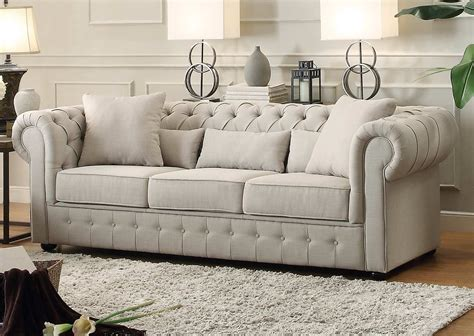 neutral sofa homelegance savonburg sofa neutral 8427 3 at homelement com