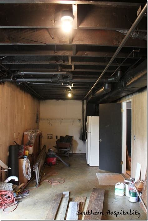 how much for a basement painting an industrial ceiling black
