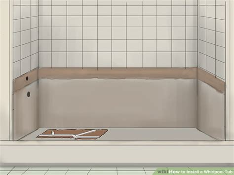 remove bathtub and replace with shower how to install a whirlpool tub with pictures wikihow
