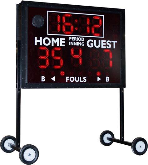 backyard scoreboards sportable scoreboard ms 1 multi sport indoor outdoor scoreboard 74 quot w x 48 quot h