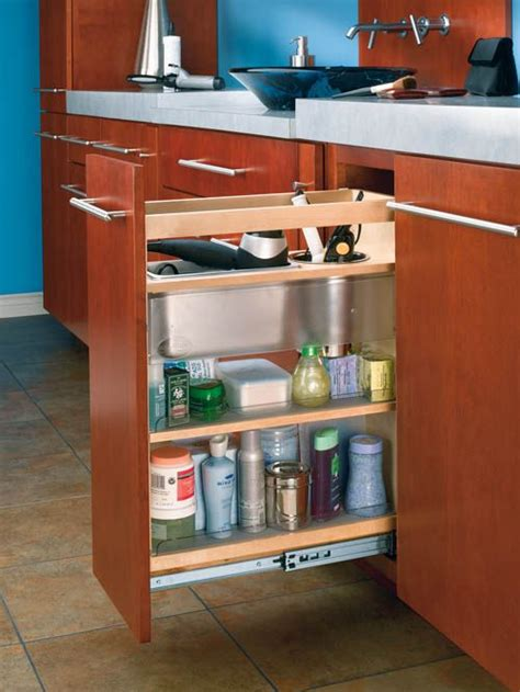 Pull Out Bathroom Storage 17 Best Images About Storage Solutions On Pinterest Base Cabinets Shelves And Wall Spice Rack