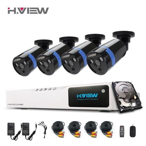 1 Set Cctv Outdoor h view 1080p cctv security system hdmi 8ch dvr cctv system 4 pcs ir outdoor