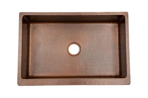Kitchen Sink Pads 33 Quot Antique Hammered Copper Kitchen Apron Single Basin Sink Corbel Universe