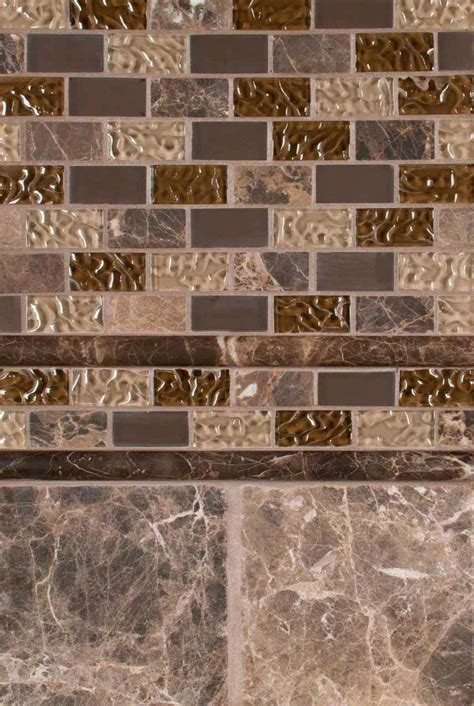 6x6 tile backsplash sonoma blend 1x2x8mm and emperador 6x6 tumbled tile