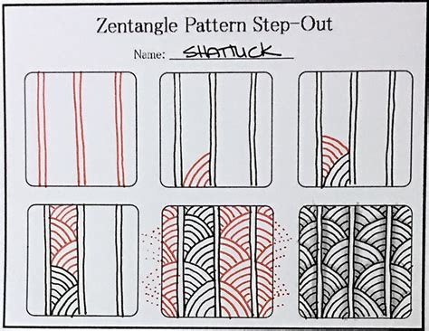 pattern drawing pdf tutorial how to draw the zentangle pattern shattuck