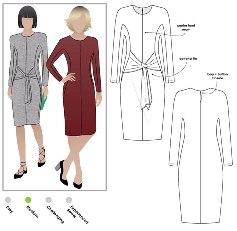 pattern review style arc stylearc serena dress