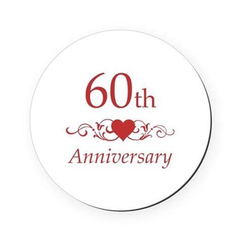 60th wedding anniversary cork coaster by pixelstreetann