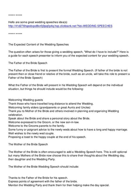 layout for wedding speeches mother s wedding speech