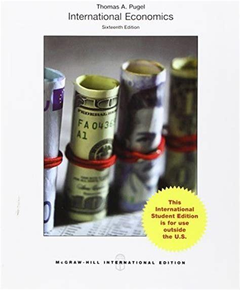 International Economics 1 samenvattingen boek quot international economics quot a pugel new york usa