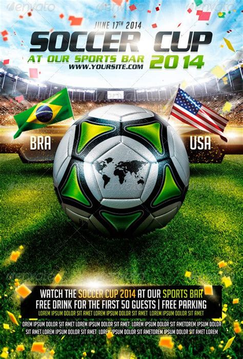 download the best soccer flyer templates for photoshop